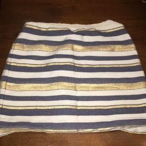 Stripe J.Crew Skirt